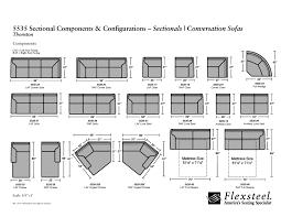 flexsteel sectional sofa flexsteel 5535 thornton sectional couches