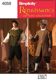 simplicity halloween costume patterns mens renaissance costume sewing pattern 4059 simplicity possible