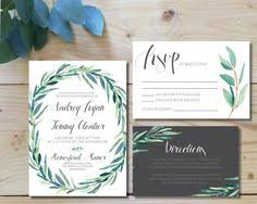 Wedding Invitations Inserts Rustic Wedding Invitation Woodland Wedding Painted Watercolor