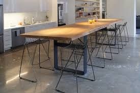 Bar Height Conference Table American Elm Live Edge Communal Table Northwood Design Partners