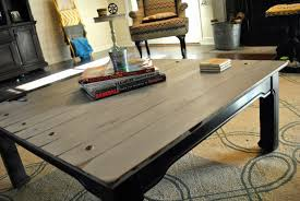 Painting Coffee Tables Amazing Grays Industrial Aged Coffee Table Redo