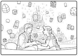 coloring pages rapunzel and flynn wedding coloring pages coloring