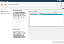 step by step u2013 provisioning new site collection based on custom