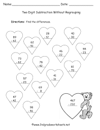Double Facts Worksheets Subtraction With Regrouping Worksheets 2nd Grade Kelpies