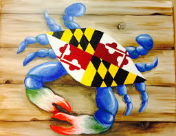 Calvert County Flag Maryland Flag Crab Annapolis Md Wine U0026 Design