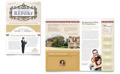 real estate agent u0026 realtor newsletter word u0026 publisher template