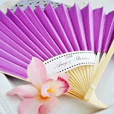 personalized wedding fans colored paper fans wedding fans