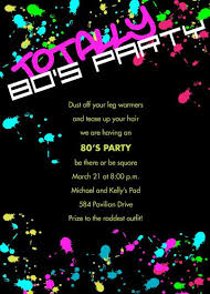 party invitations astounding 80s party invitations design ideas