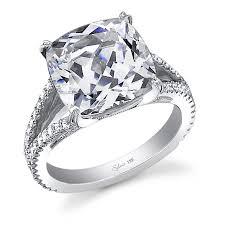 cushion cut split shank engagement rings glamorous cushion cut engagement ring engagement
