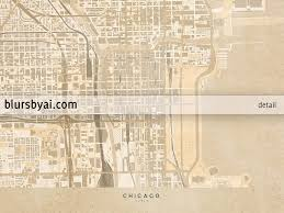 Maps Of Chicago by Printable Map Of Chicago Illinois En Vintage Sepia Style U2013 Blursbyai