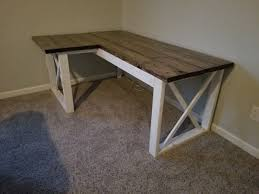 How To Build An L Shaped Desk L Shaped X Desk Handmade