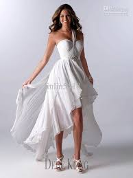 white wedding beach dress