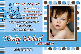 Free First Birthday Invitation Cards Little Prince Birthday Invitation