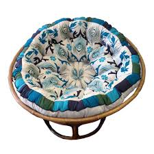 cotton craft papasan pea blue overstuffed chair cushion really thick and oversized pure cotton duck fabric fits standard 45 inch round