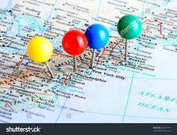Picture Of A Map Of The United States by Macro Shot Map East Coast United Stock Photo 242847778 Shutterstock