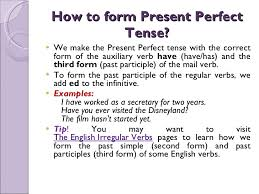 how to form present perfect tense u003cul u003e u003cli u003ewe make the present