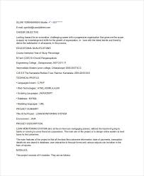 Fresher Resume Objective Examples by 21 Fresher Resume Templates Free U0026 Premium Templates