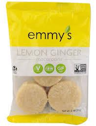 emmy u0027s organics macaroons lemon ginger gmo free pinterest