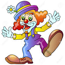 cheerful clown illustratio isolated royalty free cliparts vectors