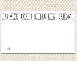 Advice Cards For Bride Printable 3 5x2 Or 6x4 Bride U0026 Groom Advice Cards Pdf Instant