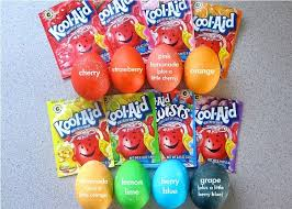 easter egg coloring kits kool aid dyed easter eggs