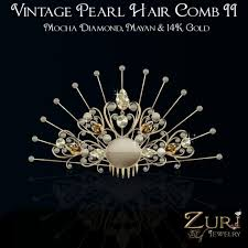 vintage hair combs second marketplace zuri rayna vintage pearl hair comb ii