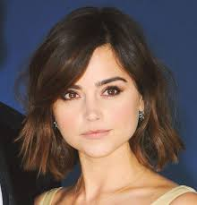 bob haircut for chubby face jenna coleman hairstyles for a wide round face cinefog