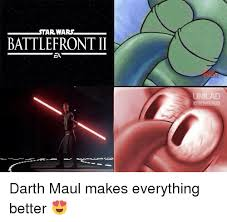 Darth Maul Meme - tar wars battlefront ii gaming darth maul makes everything better
