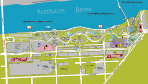 Map Of South South Brisbane Map Map Of South Brisbane Australia