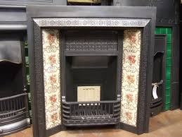 victorian cast iron tiled insert doncaster 073ti old fireplaces