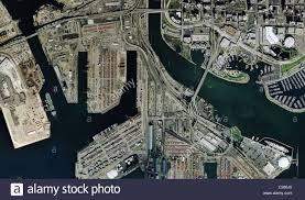 Long Beach Map Aerial Map View Port Of Long Beach California Stock Photo Royalty