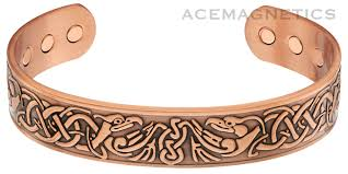 magnetic bracelet with copper images Massive copper magnetic bracelet quot phoenix quot style w six powerful gif