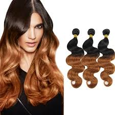 ombre weave ombre hair weave with wavy hair