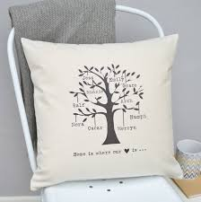 personalised family tree cushion by tillie mint