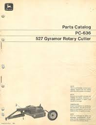 john deere 727 737 gyramor rotary cutter parts manual u2022 24 95