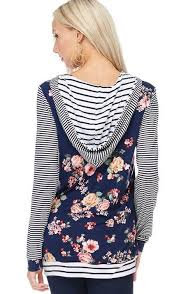 navy floral striped hoodie in stock u2013 brianne wade