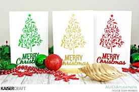christmas card diy clean and simple kaisercraft christmas cards