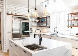 kitchen cabinet sink faucets replacing your kitchen fixtures this 3 hour remodeling