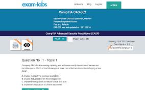 cas 002 comptia practice exam questions 100 free exam labs