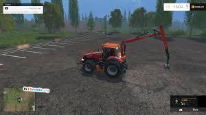 case ih magnum cvx 380 tractor with palfinger crane mod fs15 mods