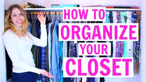 How To Purge Your Closet by How To Organize Your Closet Spring Cleaning 2017 Youtube