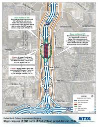 Map Of North Dallas by Major Dnt Closures Near Parker Road Scheduled Jan 23 24 Driving