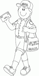mailman hat coloring page community helpers coloring pages 10 pics of mailman helper