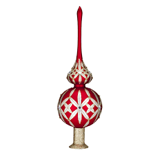 holiday heirlooms opulence 12in lismore tree topper u2013 discontinued