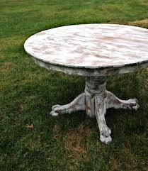 distressed round dining table rental inventory tables barn and room