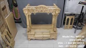 wooden mandir for home youtube