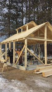 16x24 post and pier cabin 16x24 timber frame plan pavilion picnics and porch
