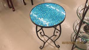 Mosaic Accent Table Uma 23952 Mosaic Accent Table Turquoise Priceco Furniture Store