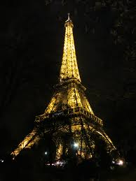 the eiffel tower by night paris