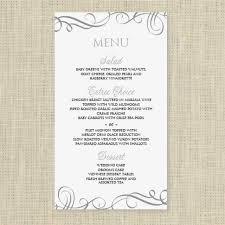 wedding party menu template